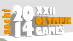 XXII sochi olympic games title Stock Footage