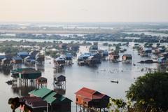 Houses in tonle sap, siem reap, cambodia Stock Photos