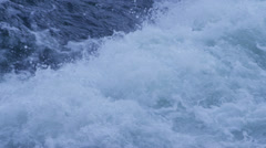 Close-up of white water rapids. - stock footage