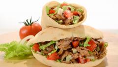 Doner kebab Stock Footage
