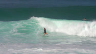 Stock Video Footage of Surfer Conquers Breaking Wave, 240 fps slow motion