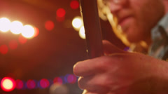 Close-up of a guitarist playing. Stock Footage