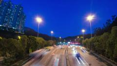 Highway Toll Booth. HD Zoom Out Shot. - stock footage