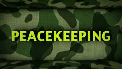Countdown in Military Door and PEACEKEEPING Final Text - stock footage