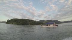 Brazil Paraty Boat River Slowmo Stock Footage