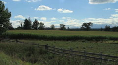 Open field in the country Stock Footage