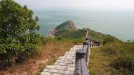 Stock Video Footage of Cheung Chao Island upper island path, Hong Kong