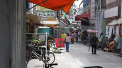 Typical alley in Cheung Chau island Stock Footage