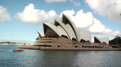 Australia - Passing by Sydney Opera house Stock Footage