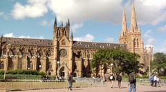 Australia - Saint Mary's Cathedral, Sydney1 - stock footage