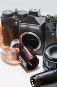 Analog photo camera Stock Photos