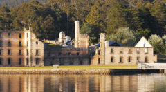 Old penitentiary port arthur Stock Footage