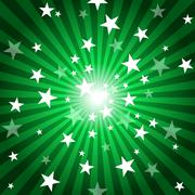 Sun Rays And Stars - stock illustration