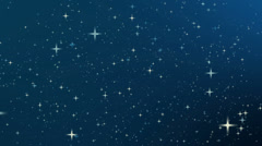 Night sky with star, Full HD loop - stock footage