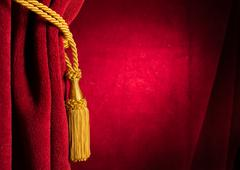 Red theatre curtain Stock Photos