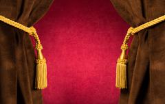Red theatre curtains Stock Photos