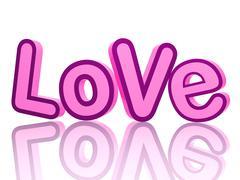 love letters  - stock illustration