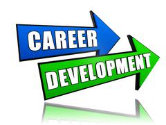 career development in arrows - stock illustration