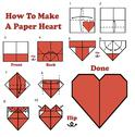 How to make a paper heart Stock Illustration