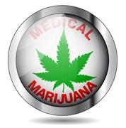 Stock Illustration of medical marijuana icon