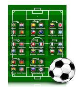 Stock Illustration of soccer tournament 2014
