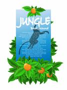 Stock Illustration of junglel banner