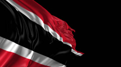 Flag of Trinidad Stock Footage