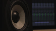 Pulsing speaker Stock Footage
