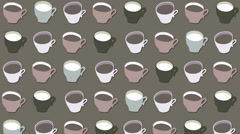 Cups Stock Footage
