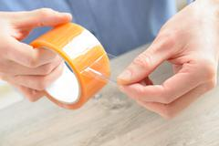 transparent tape - stock photo