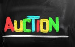 Auction concept Stock Illustration