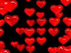Hearts 01 WEB with alpha Stock Footage