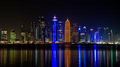 Night in doha Stock Photos