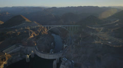 Aerial view of the Hoover Dam. Stock Footage