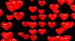 Hearts 01 720p with alpha Stock Footage