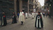 Stock Video Footage of catholic procession in Barcelona