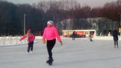 Snowskate park Stock Footage