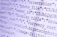 Stock Photo of html codes