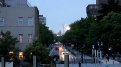 Yokohama traffic in the evening - stock footage