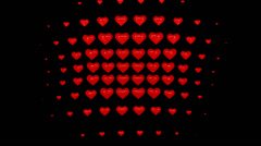 Hearts 03 1080p with alpha Stock Footage