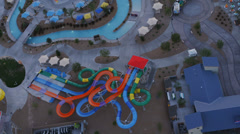 Aerial view of a water park near Las Vegas, Nevada. - stock footage