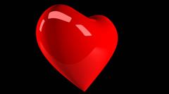 Hearts 05 720p with alpha Stock Footage