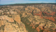 Stock Video Footage of Sedona Rock Formation Aerial Close Up
