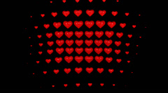 Hearts 03 4K with alpha Stock Footage