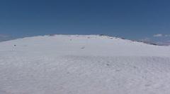 Pan snow landscape in Jotunheimen National park, Norway Stock Footage