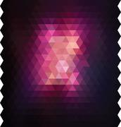background with colored triangles - stock illustration