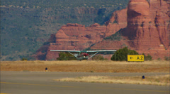 Sedona Cessna Take Off Stock Footage