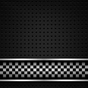 Structured metallic perforated for race sheet - stock illustration