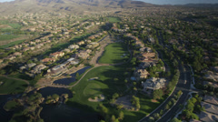 Aerial view of suburban sprawl near Las Vegas, Nevada. Stock Footage
