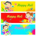 Stock Illustration of Kids playing Holi